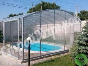 Накрытие для бассейна из сотового поликарбоната