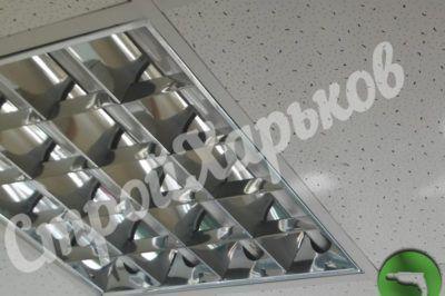 Потолок Армстронг со светильником